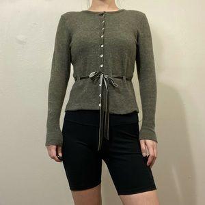 VTG 100% Italian merino wool cardigan